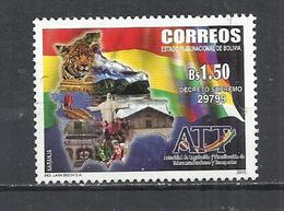 BOLIVIA 2015 - TRANSPORT AND TELECOMMUNICATIONS AUTHORITY - USED OBLITERE GESTEMPELT USADO - Bolivia