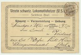 Biel - Bienne Versammlung Verein Schweiz.Lokomotivheizer - BE Berne