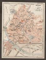 CARTE PLAN 1927 - BÉZIERS - USINE CORDIER CASERNE CAVALERIE USINE ÉLECTRIQUE Des TRAMWAYS - Topographical Maps
