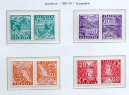 Schweiz Suisse 1935: Kehrdrucke Tète-bêches  Zu+Mi-No. K28-K31 ** Postfrisch MNH (Zu CHF 32.00) - Kehrdrucke