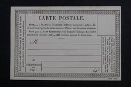 FRANCE - Carte Précurseur Non Circulé - L 61873 - Postal Stamped Stationery