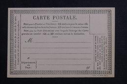 FRANCE - Carte Précurseur Non Circulé - L 61878 - Postal Stamped Stationery
