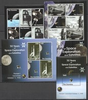 G1138 2008 GAMBIA 50 YEARS OF SPACE EXPLORATION & SATELLITES 1BL+3KB MNH - Espacio