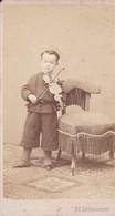 Photographie Ed Lichtenstern Triest Italie Enfant Virtuose  Jouant Au Violon Didier Delorme 1870  Ref 200735 - Photos
