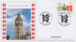 Enveloppe  FDC  1er  Jour   MONACO   JEUX  OLYMPIQUES    LONDRES    2012 - Verano 2012: Londres