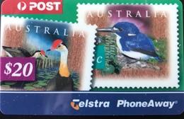 AUSTRALIE  -  Prepaid  - Telstra PhoneAway  -  Stamps  -  $ 20 - Australië