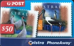 AUSTRALIE  -  Prepaid  - Telstra PhoneAway  -  Stamps  -  $ 50 - Australia