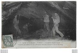 Fumay - Ardoisière Saint Joseph - Préparation Abatage Bloc De 100 Mètres Cubes à Une Profondeur Verticale De 150 Mètres - Fumay
