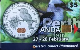 AUSTRALIE  -  Phonecard  -  Telstra  -  Perth - Kookaburra  -  $ 5 - Australia
