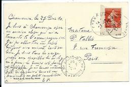 COIN De CARNET Du 10c SEMEUSE - Sur Carte De 1910 - Definitives