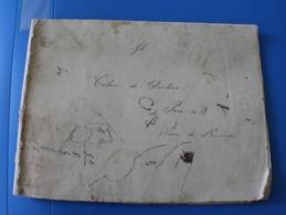 Cahier De Dictées 1875 St Joseph-P.P.Eux..Manuscrit Document Historique--Cahier D'école De Pierre De Bernardi - Other Collections