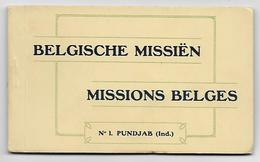 Carnet Complet, 10 CPA, Belgische Missiën, No1 Pundjab - Missie