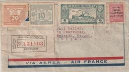 Storia Postale Paraguay Lettera Viaggiata  Affrancata Ambo I Lati Air Mail - Paraguay