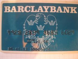 "Carte De Credit "" Tous Pays ""barclay Bank - Carte Di Credito (scadenza Min. 10 Anni)"