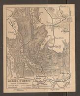 CARTE PLAN 1927 - GORGES D'HÉRIC D'APRES NAUZIERES - L'ESPINOUSE DOUCH BARDOU LE CAROUX LA COSTE BARDOU - Topographical Maps