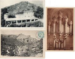 SAINT GUILHEM LE DESERT - 3 CPA - Hotel Moderne Fonzes - Les Orgues - Vue Générale   (1406 ASO) - France