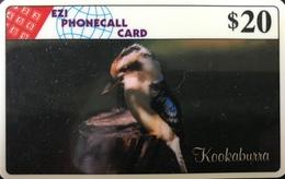 AUSTRALIE  -  Phonecard  - EZI PHONECALL CARD  -  Kookaburra  -  $ 20 - Australia