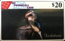 AUSTRALIE  -  Phonecard  - EZI PHONECALL CARD  -  Kookaburra  -  $ 20 - Australië