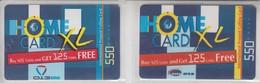 ISRAEL 2002 BARAK 013 HOME CARD 550 UNITS 2 DIFFERENT CARDS - Israel