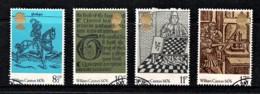Great Britain 1976 William Caxton Set Of 4 Used - 1952-.... (Elisabetta II)