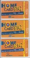 ISRAEL 2003 BARAK 013 HOME CARD 475 UNITS 3 DIFFERENT CARDS - Israel