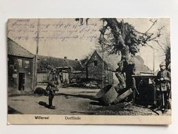 Ak Cp Willerval Deutsche Soldaten In Dorflinde Feldpost 1916 - Other Municipalities