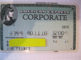 """Carte De Credit """" American Express Air France """" - Credit Cards (Exp. Date Min. 10 Years)"""