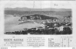 NICE LE PORT SOCIETE OLEICOLE DE LA MEDITERRANEE HUILE D'OLIVE 11 RUE SAINT MICHEL PUB PUBLICITE PRECURSEUR 1902 TBE - Schiffahrt - Hafen