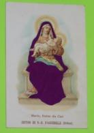Image RELIGIEUSE Ancienne Gaufrée - Publicité Des Chocolats AIGUEBELLE - Vêtement En Feutre Violet - Andachtsbilder