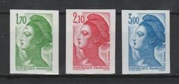 France N°2318 à 2320 ** Non Dentelé 1984 - France