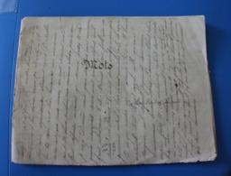 MONIEUX 84  Culture Générale MOTS 1875 Tout à Jésus .Manuscrit Document Historique-Cahier D'école De Cécile De Bernardi - Other Collections