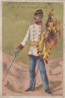 Militaria - Armée Officier Autriche - Publicité Cordonnerie 81/83 Rue Ordener Paris - Chromo Fin 19ème Siècle - Uniformes