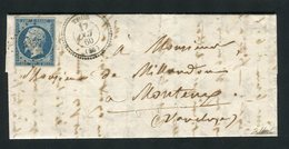 Rare Lettre De Thor ( Vaucluse - 1860 ) - Cachet PC 3357 - Marcophilie (Lettres)