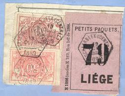 _V684:SCHAERBEEK(CENTRAL)>LIÉGE:SP11+SP7= Verzekering+étiquette:N°79:TypeBb:3x:fragment PETITS PAQUETS+E1086(ancienK185) - Railway