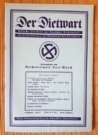 Der Dietwart, 1. Jahrgang Folge 22, 20.3.1936 - German