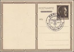 P 278/04 Geburtstag / Kindergruppe SSt BERLIN Großdeutscher Reichstag 6.10.1939 - Ganzsachen