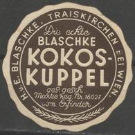 Chocolate Biscuits Kokoskuppel Blaschke Attnang Puchheim AUSTRIA Advertising LABEL CINDERELLA VIGNETTE Envelope Close - Levensmiddelen