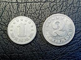 Münzen - Jugoslawien - 2 Para Und 1 Dinar-Münze - Yugoslavia