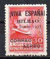 Sello  Patriotico Nº 9 Bilbao - Emisiones Repúblicanas