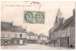 Pont-sur-Yonne - Place Du Marché - édit. M.P. 38 + Verso - Pont Sur Yonne