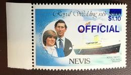 Nevis 1983 Official Deep Blue Surcharge MNH - St.Kitts E Nevis ( 1983-...)