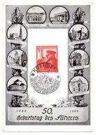 Sonderkarte 50. Geburtstag Des Führers 1939 - Deutschland