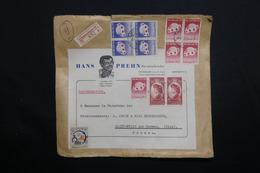 DANEMARK - Enveloppe Commerciale En Recommandé De Copenhague Pour La France En 1962, Affranchissement Plaisant - L 61915 - Lettere
