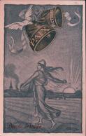 Droz Illustrateur, Bonne Année, Paix, Victoire, Semeuse, Colombe Et Cloche (1918) - Altre Illustrazioni