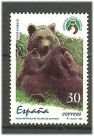"Spain 1996 Rare Animals (I). Brown Bear (Ursus Arctos), Emblem Of The ""Asturian Bear Foundation"", Mi 3263, Unused - 1931-Hoy: 2ª República - ... Juan Carlos I"