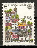 Austria 1987 / Europa CEPT Europalia Joint Issue Belgium MNH Arquitectura Emisión Conjunta Bélgica / Ks27  4-22 - Emisiones Comunes