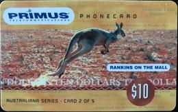AUSTRALIE  -  Phonecard   -  PRIMUS  -  Kangaroo  -  $ 10 - Australië