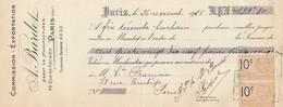 MANDAT. SEINE PARIS. COMMISSION-EXPORTATION A. BARDET AGENT DE MANUFACTURES 1925 / 226 - Bills Of Exchange