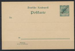 Deutsche Kolonien Samoa Ganzsache P 1 I Ohne WZ Ungebraucht Kat.-Wert 45,00 - Kolonie: Samoa