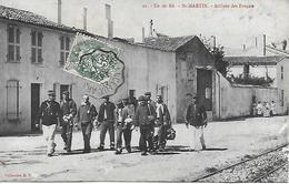 ILE DE RE  - SAINT MARTIN - BAGNARDS - BAGNE -  ARRIVEE DES FORCATS - POSTEE POUR LUCON EN 1907 - COLLECTION D.P. - Ile De Ré